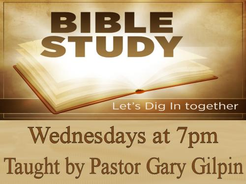 Bible Study Wednesdays at 7pm