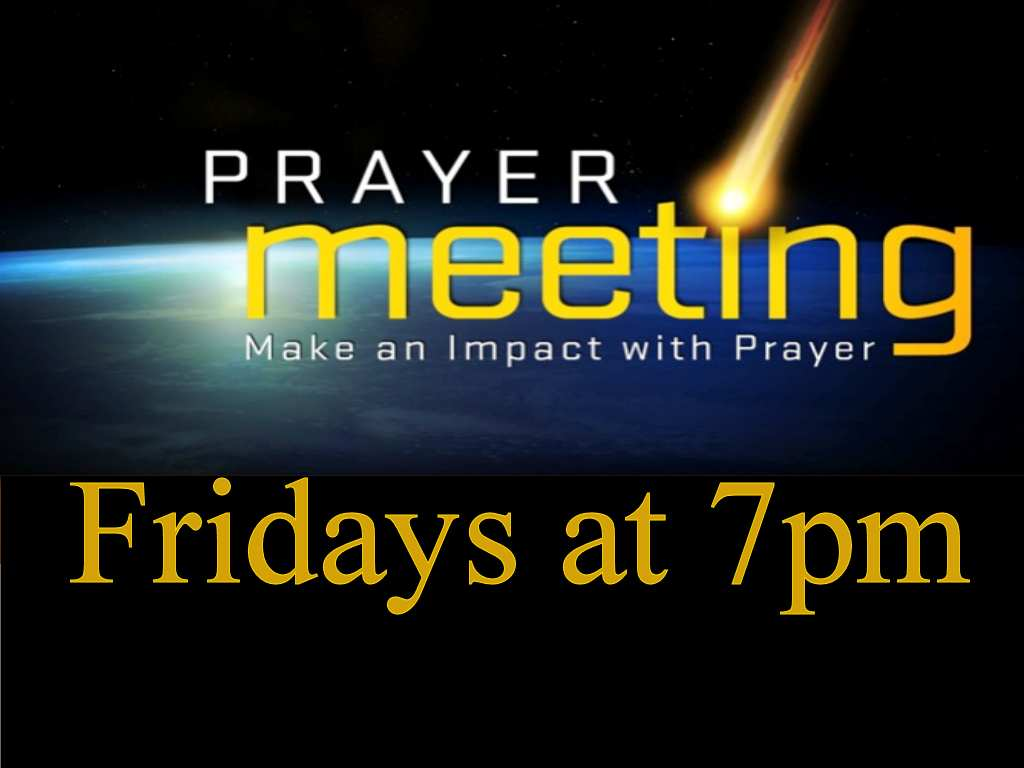 Friday Night Prayer at 7pm